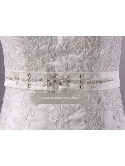 Menyasszonyi ruha A vonalú ujjatlan-AVU-2806