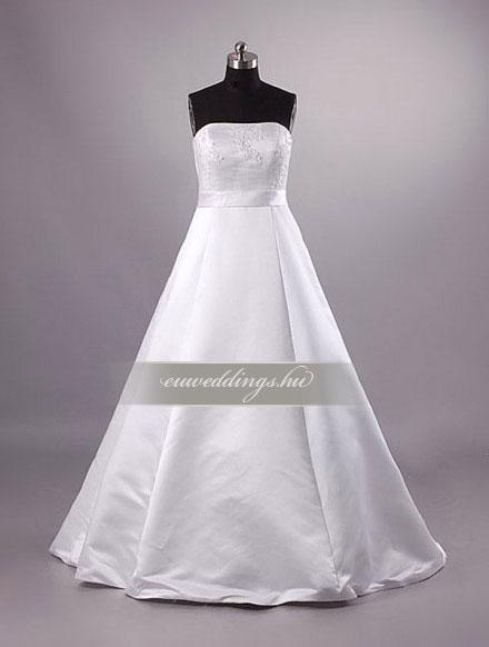 Menyasszonyi ruha A vonalú ujjatlan-AVU-2914