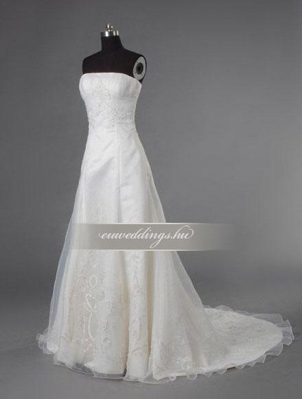 Menyasszonyi ruha A vonalú ujjatlan-AVU-2985