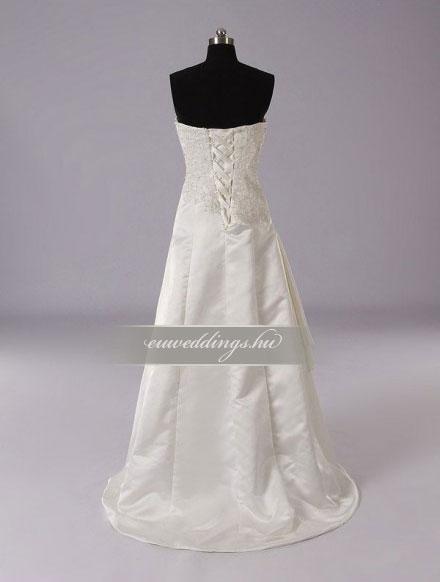 Menyasszonyi ruha A vonalú ujjatlan-AVU-3000