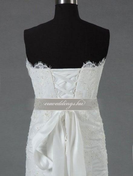 Menyasszonyi ruha A vonalú ujjatlan-AVU-3015