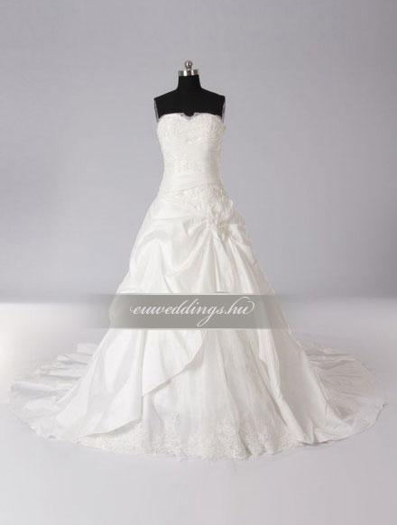 Menyasszonyi ruha A vonalú ujjatlan-AVU-3318
