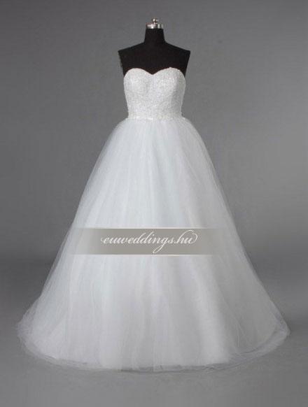 Menyasszonyi ruha A vonalú ujjatlan-AVU-3343