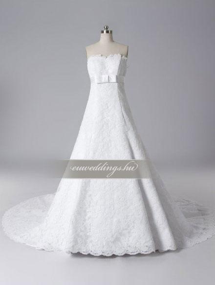 Menyasszonyi ruha A vonalú ujjatlan-AVU-3390