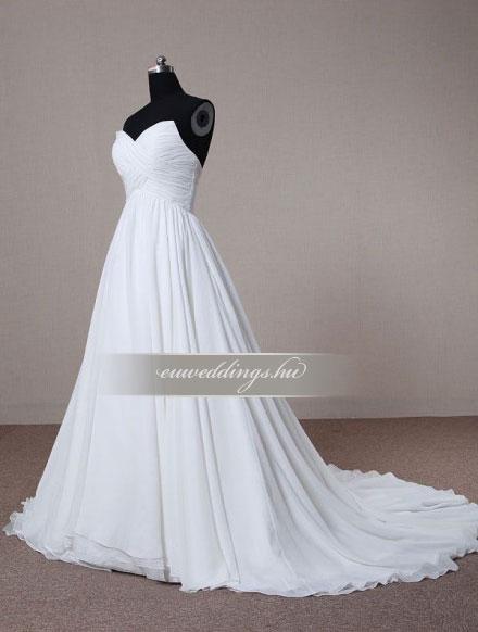 Menyasszonyi ruha A vonalú ujjatlan-AVU-3395