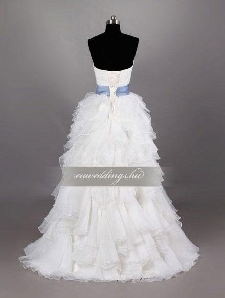 Menyasszonyi ruha A vonalú ujjatlan-AVU-3432