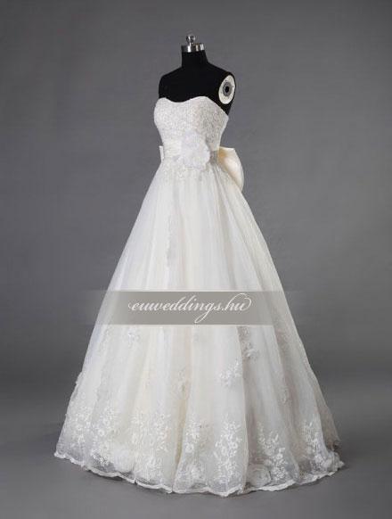 Menyasszonyi ruha A vonalú ujjatlan-AVU-3450
