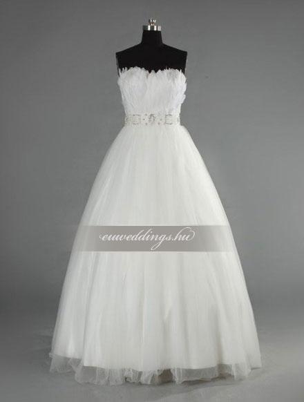 Menyasszonyi ruha A vonalú ujjatlan-AVU-3460