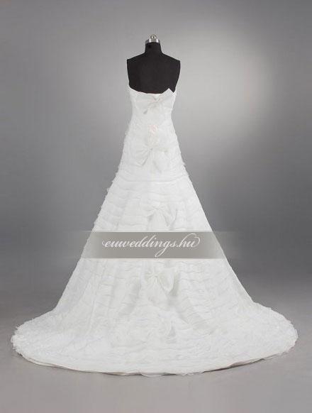 Menyasszonyi ruha A vonalú ujjatlan-AVU-3533