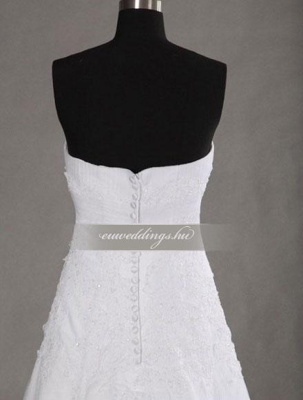 Menyasszonyi ruha A vonalú ujjatlan-AVU-3617