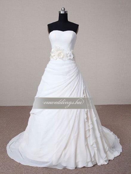 Menyasszonyi ruha A vonalú ujjatlan-AVU-3626