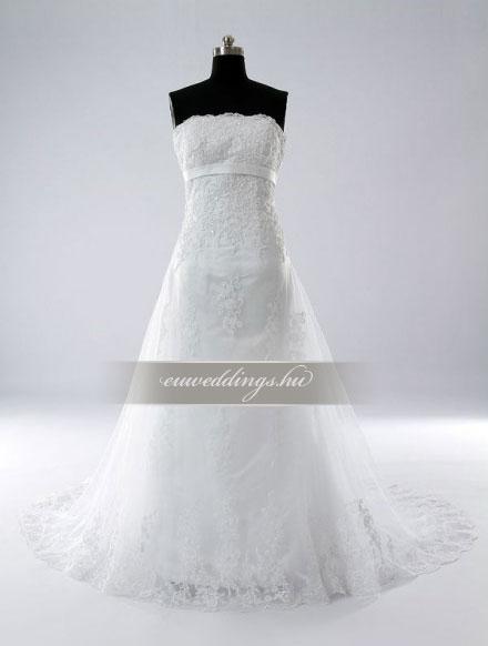 Menyasszonyi ruha A vonalú ujjatlan-AVU-3694