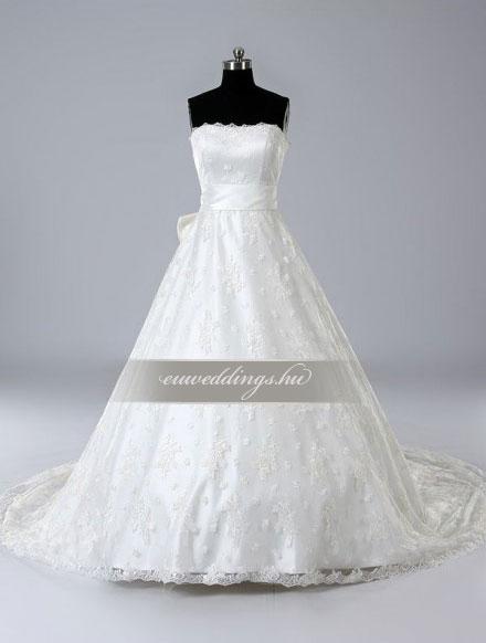 Menyasszonyi ruha A vonalú ujjatlan-AVU-3754