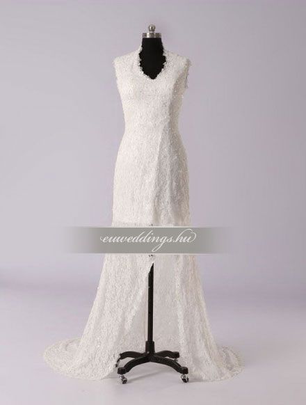 Menyasszonyi ruha aszimmetrikus pántos-ARP-37