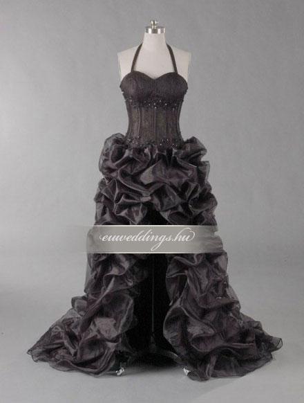 Menyasszonyi ruha aszimmetrikus színes és mintás-ARS-51