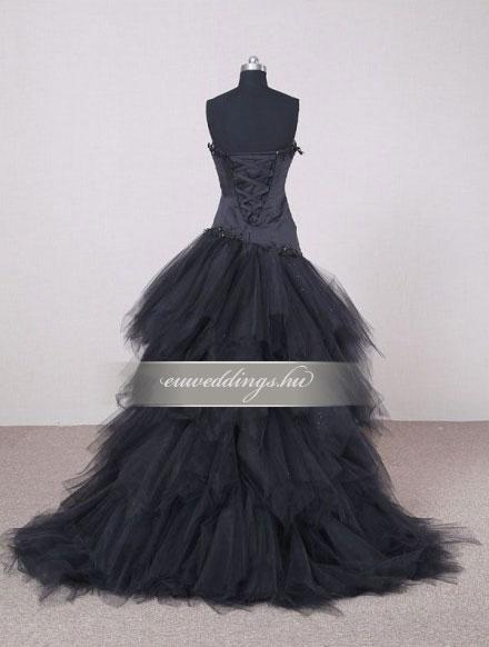 Menyasszonyi ruha aszimmetrikus színes és mintás-ARS-60