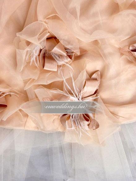 Menyasszonyi ruha aszimmetrikus színes és mintás-ARS-79