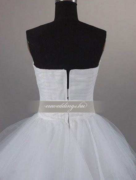 Menyasszonyi ruha aszimmetrikus ujjatlan-ARU-120