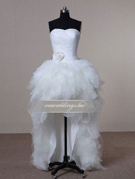 Menyasszonyi ruha aszimmetrikus ujjatlan-ARU-145