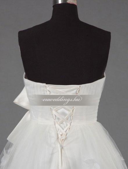 Menyasszonyi ruha aszimmetrikus ujjatlan-ARU-158