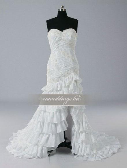 Menyasszonyi ruha aszimmetrikus ujjatlan-ARU-192