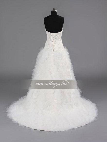 Menyasszonyi ruha aszimmetrikus ujjatlan-ARU-202