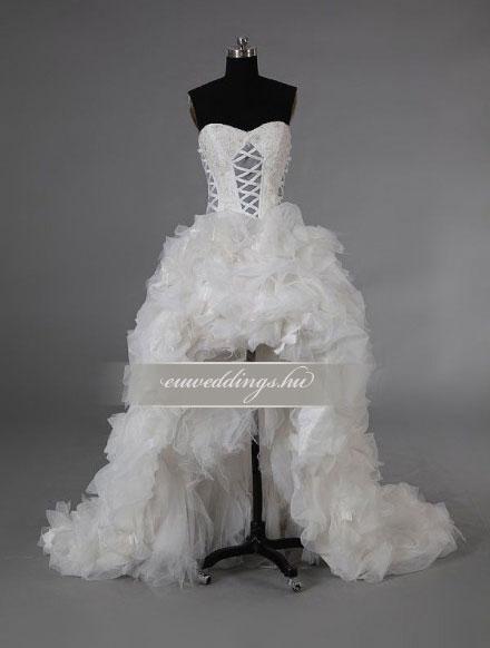 Menyasszonyi ruha aszimmetrikus ujjatlan-ARU-206