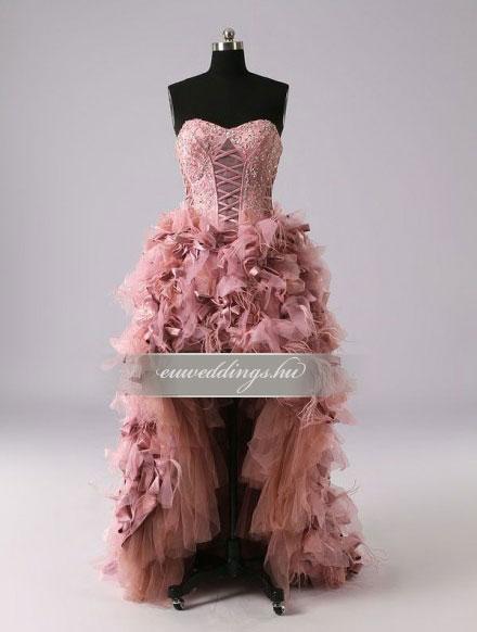 Menyasszonyi ruha aszimmetrikus ujjatlan-ARU-220