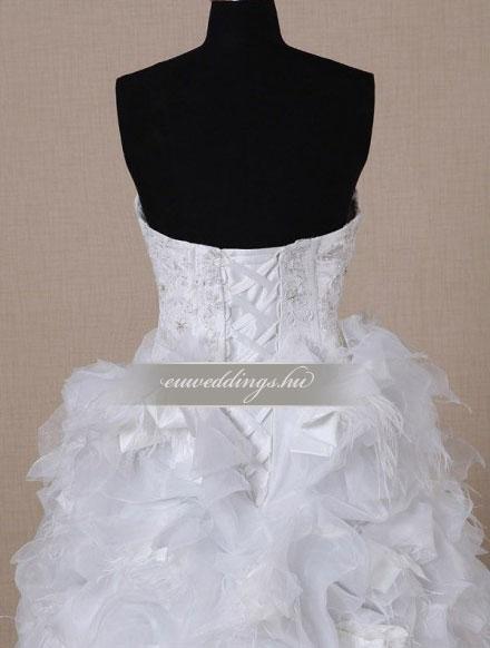 Menyasszonyi ruha aszimmetrikus ujjatlan-ARU-225