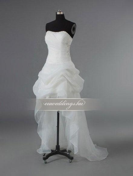 Menyasszonyi ruha aszimmetrikus ujjatlan-ARU-234
