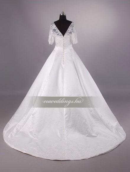 Menyasszonyi ruha báli fazonú hosszú ujjú-BFH-3759