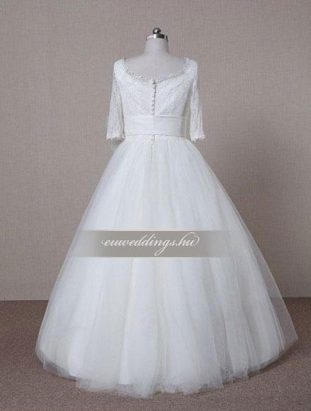 Menyasszonyi ruha báli fazonú hosszú ujjú-BFH-3769