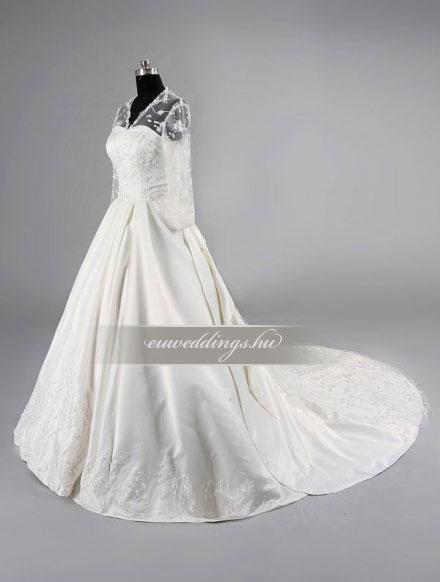 Menyasszonyi ruha báli fazonú hosszú ujjú-BFH-3782