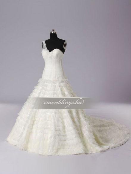 Menyasszonyi ruha báli fazonú pántos-BFP-3843