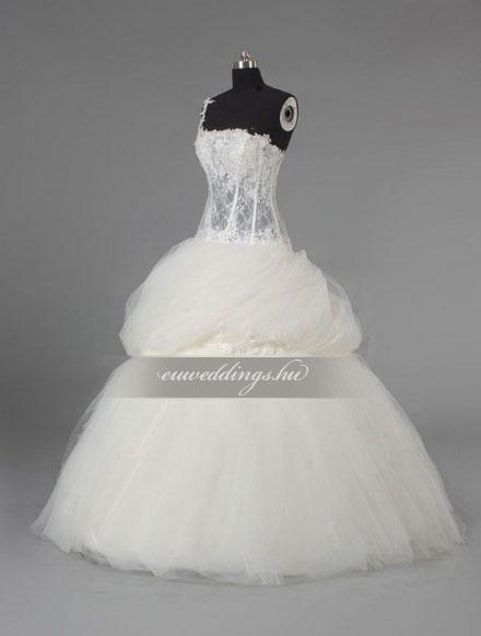 Menyasszonyi ruha báli fazonú pántos-BFP-3848