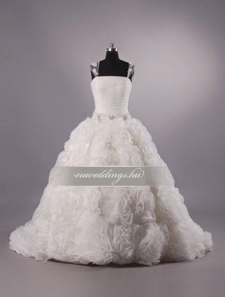 Menyasszonyi ruha báli fazonú pántos-BFP-3883