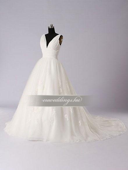 Menyasszonyi ruha báli fazonú pántos-BFP-3913