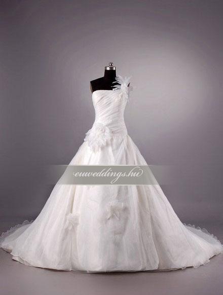 Menyasszonyi ruha báli fazonú pántos-BFP-3964