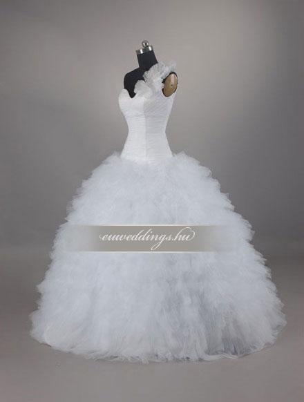 Menyasszonyi ruha báli fazonú pántos-BFP-3976