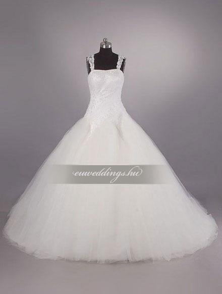 Menyasszonyi ruha báli fazonú pántos-BFP-4053