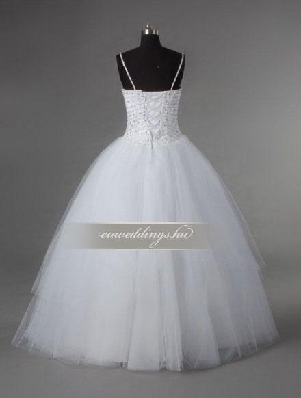 Menyasszonyi ruha báli fazonú pántos-BFP-4063
