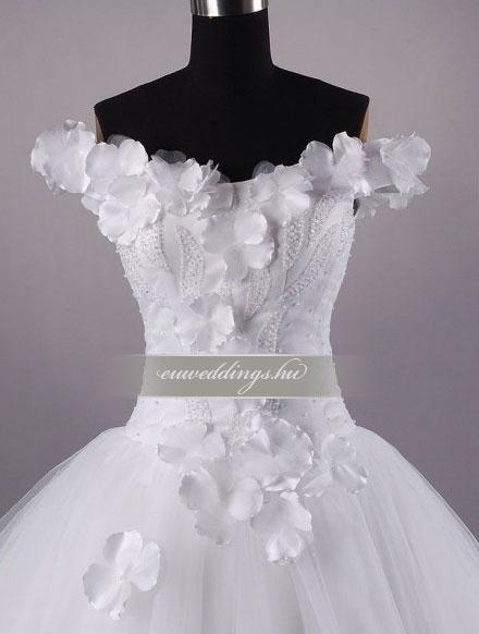 Menyasszonyi ruha báli fazonú pántos-BFP-4217