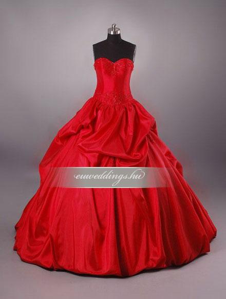 Menyasszonyi ruha báli fazonú színes és mintás-BFS-4397
