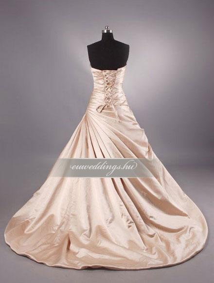 Menyasszonyi ruha báli fazonú színes és mintás-BFS-4402