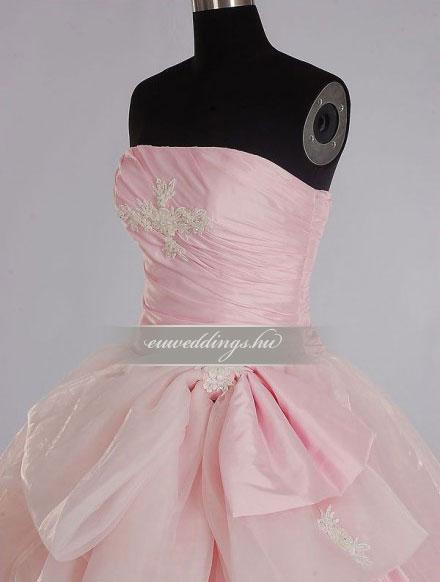 Menyasszonyi ruha báli fazonú színes és mintás-BFS-4461