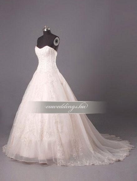 Menyasszonyi ruha báli fazonú színes és mintás-BFS-4568