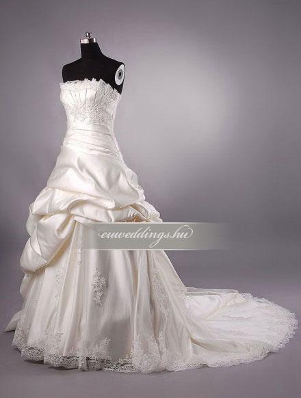 Menyasszonyi ruha báli fazonú színes és mintás-BFS-4656