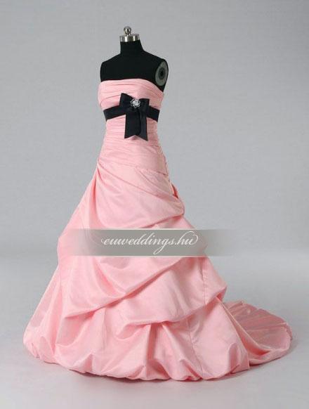 Menyasszonyi ruha báli fazonú színes és mintás-BFS-4716