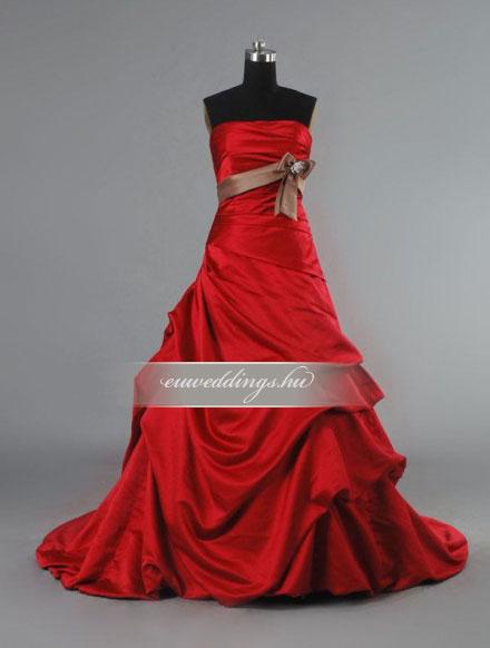 Menyasszonyi ruha báli fazonú színes és mintás-BFS-4721