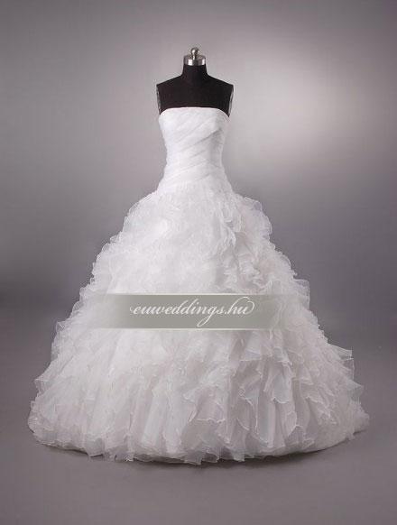 Esküvői ruha báli fazonú ujjatlan-BFU-4798